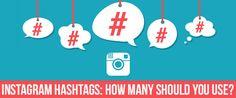 """Hashtags on Instagram: How many should you use?""  #SocialMedia #Marketing"