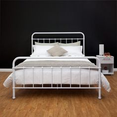 white iron bed queen - White Iron Bed Frame Queen