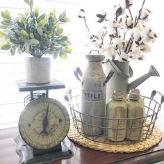 Cute idea for Grandma's Hutch