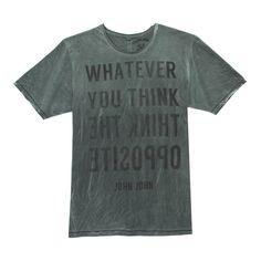T-SHIRT THINK JOHN JOHN DENIM | SHOP ONLINE | Compre a nova coleção pelo site oficial.
