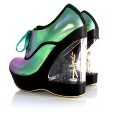 Irregular Choice Glissade Shoe Blue, Irregular Choice Womens Ballerina Heel