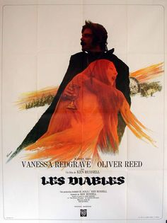 French poster for Ken Russell's controversial masterpiece The Devils starring Oliver Reed and Vanessa Redgrave. Vanessa Redgrave, Oliver Reed, Cinema Posters, Film Posters, Art Posters, Great Films, Good Movies, Satire, Casting Photo