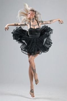 Post with 0 votes and 2562 views. Tattoos and Ballerina - Sara Fabel Top Tattoos, Sexy Tattoos, Girl Tattoos, Tattoos For Women, Dance Tattoos, Tattoed Girls, Inked Girls, Sara Fabel, Vargas Girls