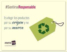 #SentiRSEResponsable es elegir los productos por su origen y no por su marca.