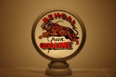 Bengal Green Gasoline Advertising globe. #collectible www.gaspumpheaven.com