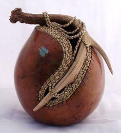 """*Gourd Art - """"Antler Embellishment"""" by Gloria Christian"""