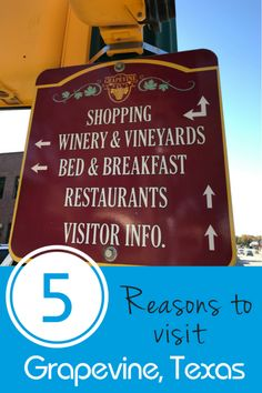 Grapevine, Texas is a not so small town located between Dallas and Fort Worth. Here are five reasons you need to visit this Texas town. Texas Roadtrip, Texas Travel, Travel Usa, Texas Bucket List, Grapevine Texas, Stuff To Do, Things To Do, Breakfast Restaurants, Family Vacation Destinations