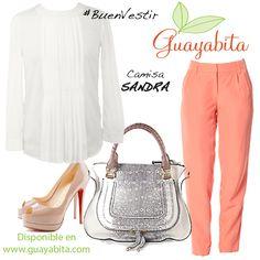 BuenVestir con nuestra camisa SANDRA!! Disponible en www.guayabita.com