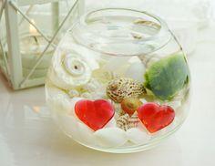 Heart Marimo Moss Ball  Japanese Moss Ball by BeachCottageBoutique