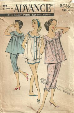 Advance 8816 Vintage Fifties Sewing Pattern by studioGpatterns, $10.50