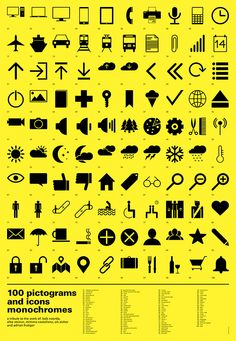 100 Free Pictograms and Icons