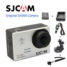 Free shipping!Original SJCAM SJ5000 Sport Action Camerar+Car Charger+Holder+Monopod+Extra 1pcs battery+Battery Charge for camera