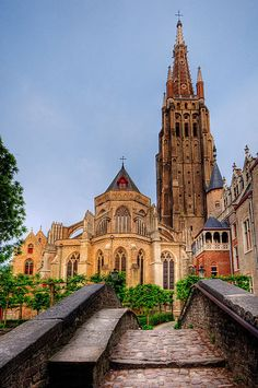 The Church of Our Lady (Onze-Lieve-Vrouwekerk) in Bruges, Belgium.