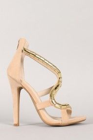 Shoe Republic Shadow Snake Open Toe Heel
