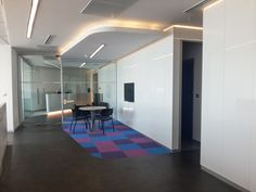 Make your workplace bright with  RAUVISIO brilliant high-gloss surfaces. #Modern #InteriorDesign