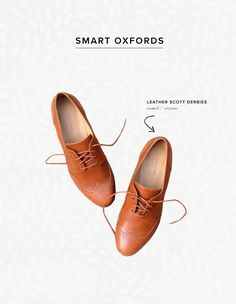 It's not exactly sandals or ballet flats weather yet, but we're ready to give our boots a break. The oxford shoe meets us halfway with its polished appeal and comfy fit. Your feet will be warm and stylin'! It's a win-win.