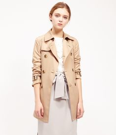 ROPÉ PICNIC(ロペピクニック)|ミドル丈トレンチコート Middle trench coat |BEIGE #J'aDoRe JUN ONLINE #J'aDoRe Magazine