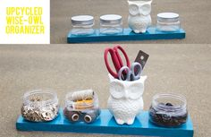 #DIY #owl desk #organizer by Cindy from Life as We Live It