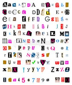 Multicolor set 2 printable digital alphabet a to z magazine different kinds of cut and torn out font from magazines and papers as spiritdancerdesigns Image collections