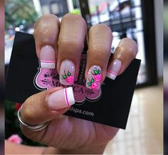 Hot Trendy Nail Art Designs that You Will Love Hot Pink Nails, Bright Nails, Trendy Nail Art, Cute Nail Art, Nails Now, Love Nails, Bling Nails, Diy Nails, Feet Nails