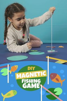 Fun Games For Toddlers, Fishing Games For Kids, Toddler Party Games, Indoor Games For Kids, Family Fun Games, Toddler Learning Activities, Preschool Games, Fun Crafts For Kids, Toddler Preschool