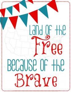 FREE {Patriotic} Printables | Atkinson Drive -->stencil or scrap letters on scrap paper, in frame. porch.