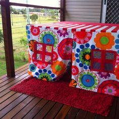Everyone loves a handmade indoor cubby house!