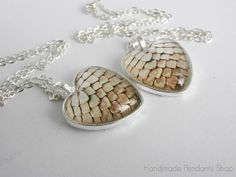 Game of Thrones inspired dragon egg scales heart pendant, Tan dragon egg scales heart pendant, dragon, scales, necklace, dragon jewelry on Etsy, $13.00 Game Of Thrones 3, Dragon Jewelry, Dragon Egg, Fantasy Artwork, Dragons, Handmade Jewelry, Gift Ideas, Crafty, Inspired