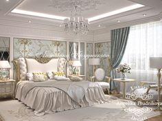 Спальня в стиле Ар-Деко в квартире в ЖК Волынская Усадьба