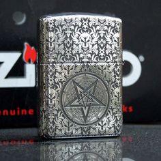 Regular Sterling Silver Son of Satan Zippo Lighter