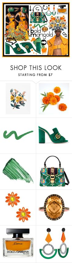 """""""Bold Marigold"""" by beanpod ❤ liked on Polyvore featuring Gucci, By Terry, Kate Spade, Dolce&Gabbana and Toolally"""