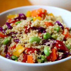 Pretty and Protein-Packed: Sesame Ginger Quinoa Salad: If you've spent the last few months sipping steamy soups and biting into comforting pasta dishes, your waistline might not be ready to bare it all on the beach.