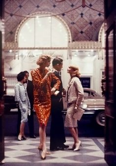 by Gordon Parks - New York City [1956] 50s suit dress print ad magazine models blue cream red
