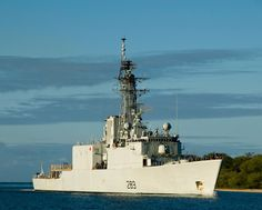 "Canadian Navy Frigate HMCS Algonquin DDG-283 Pearl Harbor July 29, 2010 - 8 x 10"" Photograph"