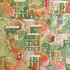 Inspiration Sardaigne - mixed media - juillet 2021 Advent Calendar, Inspiration, Holiday Decor, Home Decor, Sardinia, Paint, Drawing Drawing, Canvases, Biblical Inspiration