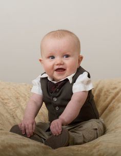 Baby Vest, too cute! Will go with the baby tie just fine...