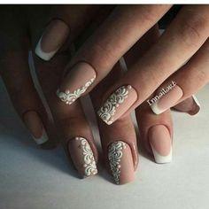 Beautiful wedding nails, Bridal nails, Wedding French manicure, Wedding nails 2016, Wedding nails ideas