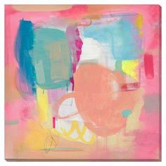 "Gallery Direct Bright Painting Print on Wrapped Canvas Size: 36"" H x 36"" W"