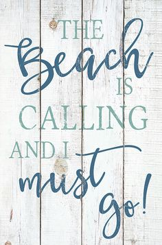 The Beach Is Calling Wooden Sign - Country Marketplace Beach Cottage Style, Beach Cottage Decor, Coastal Style, Coastal Decor, Coastal Living, Beach Theme Decorations, Beach Decor Bathroom, Beach Theme Wall Decor, Beach Themed Art