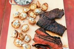 Grilled Steak With Blue Cheese Potatoes