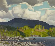 "wetreesinart: "" Alfred Joseph Casson (Canadian, 1898 – Pugh Lake, oil on canvas "" Group Of Seven Artists, Group Of Seven Paintings, Tom Thomson, Emily Carr, Canadian Painters, Canadian Artists, Abstract Landscape, Landscape Paintings, Small Paintings"