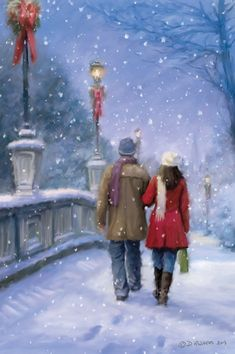 """""""Couple in the snow"""" by Daniel Rodgers"""