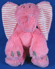 "Nat & Jules Soft Pink 11"" Eleanor Elephant Plush Stuffed Animal Toy Lovey #NatJules"