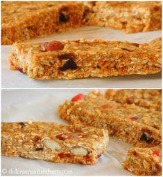 Barrette di Cereali e Zucchero di Cocco (RAW) | Dolce Senza Zucchero