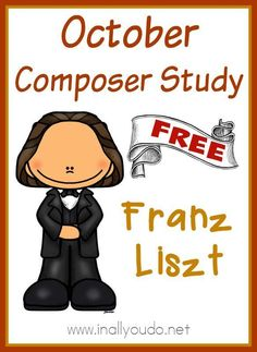 Adding music to your homeschool day doesn't have to be difficult. Use this simple Composer Unit Study on Franz Liszt to study just one composer in October!