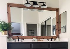 DIY frame. Update your outdated mirror with a frame! Simple project with big impact!