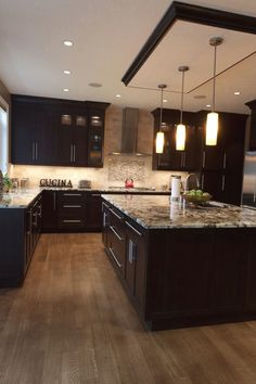 Tips, methods, plus guide when it comes to receiving the most effective end result and attaining the optimum use of Small Kitchen Renovation Dark Brown Cabinets, Dark Kitchen Cabinets, Kitchen Cabinet Design, Kitchen Redo, Home Decor Kitchen, New Kitchen, Kitchen Interior, Home Kitchens, Kitchen Remodel