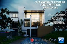 tutorial vray for sketchup exterior night scene cover