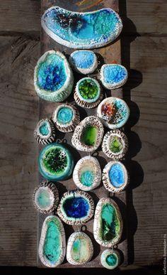 Морские подвески со стеклом - Ярмарка Мастеров - ручная работа, handmade