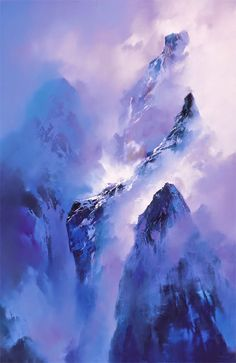 Artist: Ken Hong Leung May in Canton, China Ken Hong Leung - Website . Chinese Landscape, Fantasy Landscape, Landscape Art, Landscape Paintings, Landscape Photography, Watercolor Landscape, Watercolor Paintings, Watercolours, Art Japonais